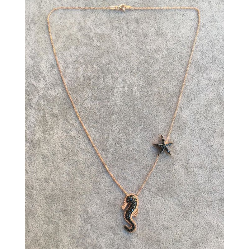 Seahorse and Starfish Necklace | RS445