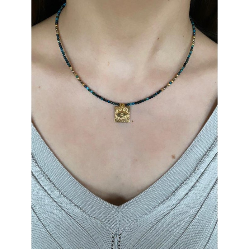 Gold Third Eye Necklace | RS939